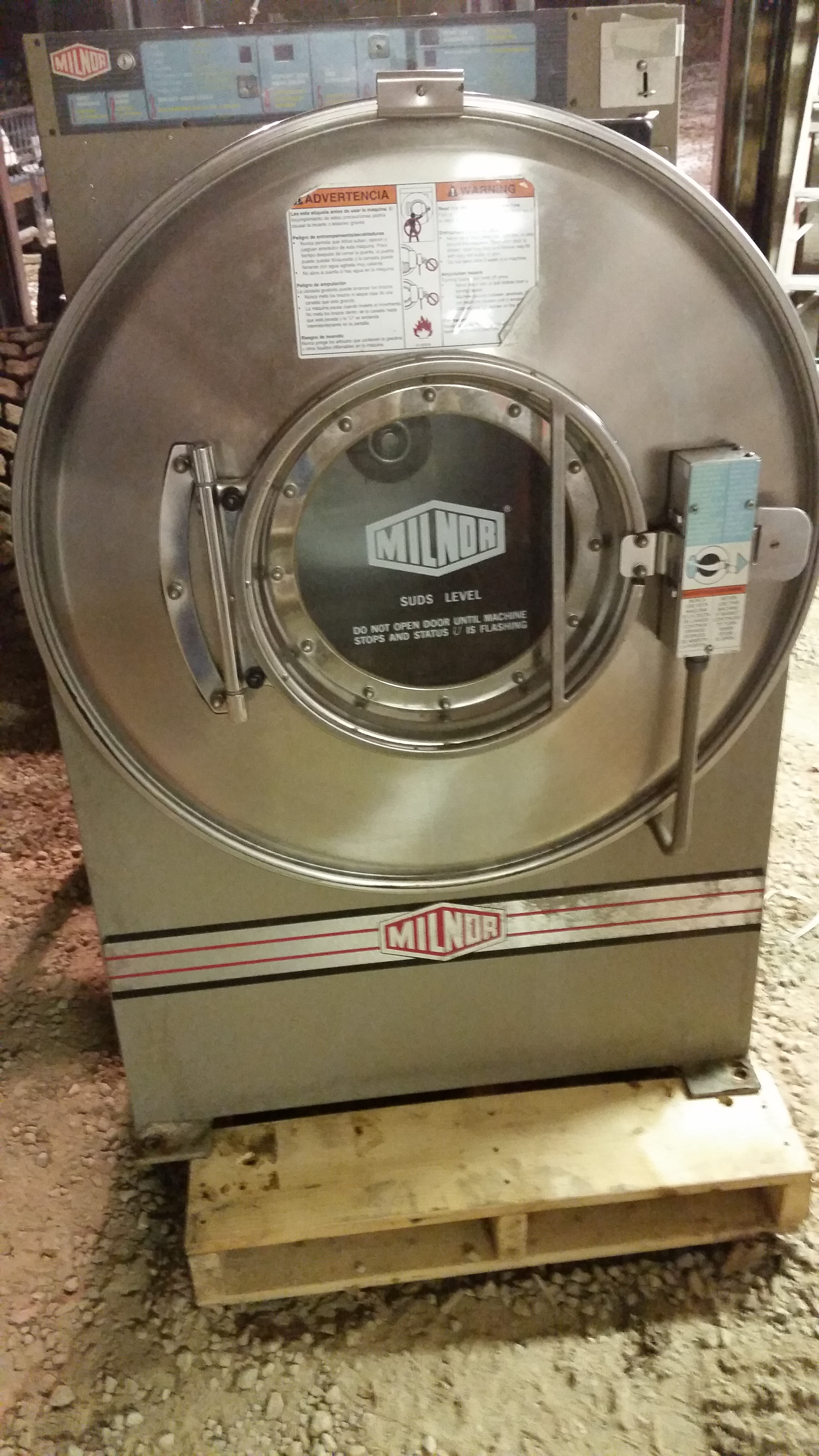 60 Pound Washer ~ Milnor lb double load washers pre owned commercial